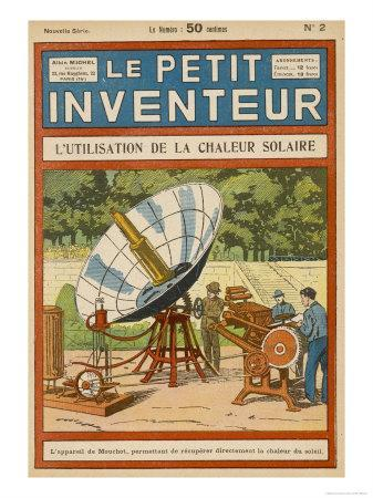 Mouchot's Solar-Powered Motor