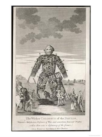 The Wicker Man in Which People were Burnt as Sacrifices to Their Deities