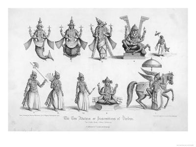 The Ten Avatars (Incarnations) of Vishnu