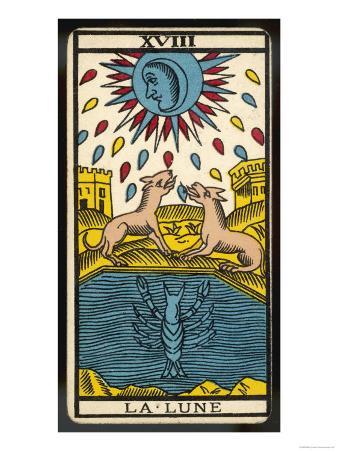 Tarot: 18 La Lune, The Moon