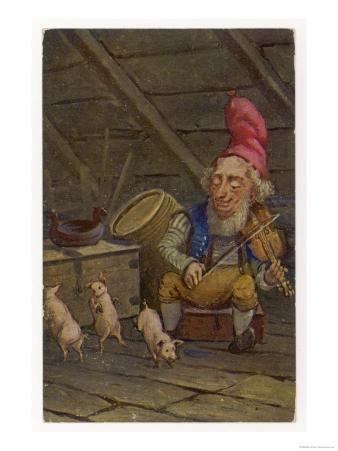 "Norwegian ""Nisse"" Fiddles While Pigs Dance"