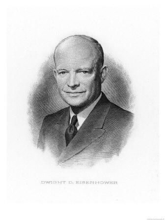 Dwight Eisenhower Us Soldier and President 1953-1961