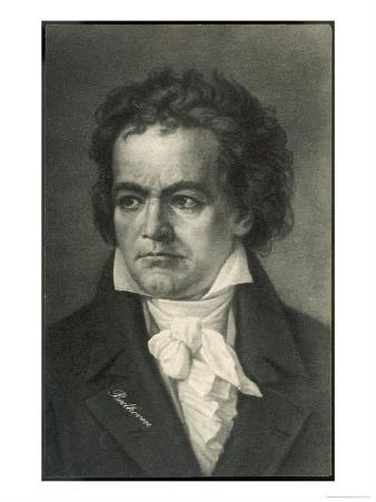 Ludwig Van Beethoven German Composer Portrait