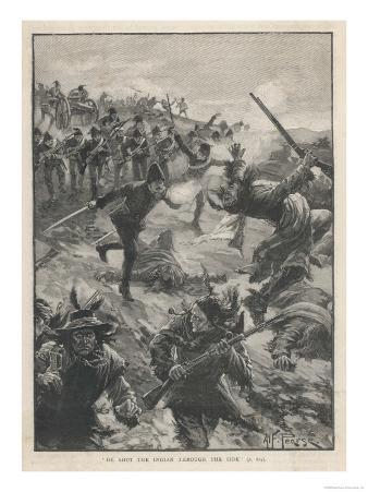 Riel Rebellion Fighting Between the Government Troops and the Rebellious Native Canadians