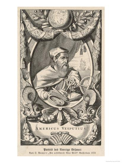 Amerigo Vespucci Italian Navigator Giclee Print At