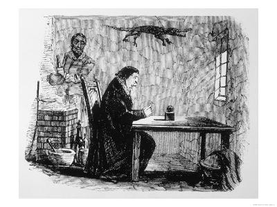 Dr John Dee and His Assistant Edward Kelley (With