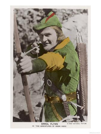 """Erroll Flynn in """"The Adventures of Robin Hood"""" 1938"""