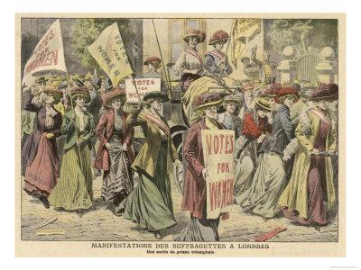 Suffragettes Celebrate the Release of Edith New and Mary Leigh from Holloway