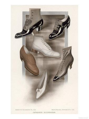 Selection of Shoes of the Period