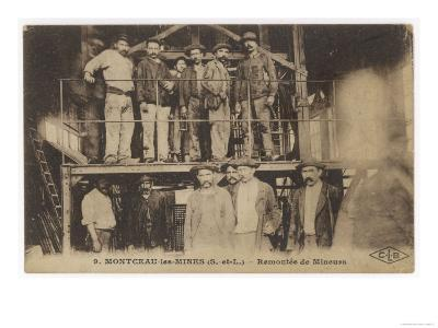 French Miners at Montceau-Les- Mines Central France