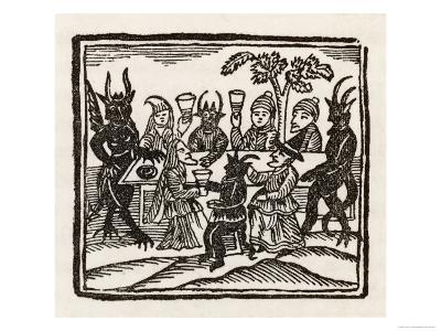 Dining with Demons, Witches at a Sabbat Sit Down to Supper with the Devil and His Companions