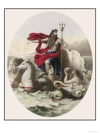 Hippocampi Beasts Who were Half Horse Half Fish Draw Neptune's Chariot Across the Sea