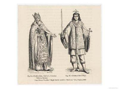 Prester John Legendary Christian King and Priest of the Middle Ages Pictured Here with His Page