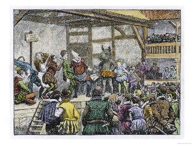 """Performance of Shakespeare's """"Midsummer Night's Dream"""" in an Elizabethan Playhouse"""