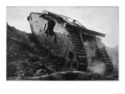 British Tank in Action in France