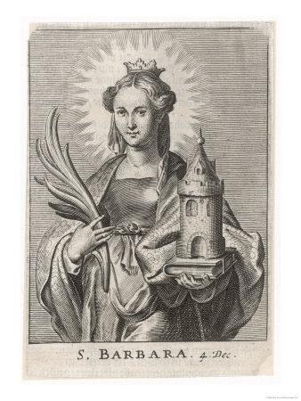 Saint Barbara Carrying a Tower to Symbolise the One