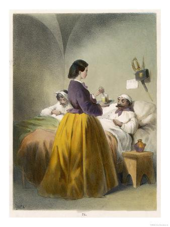 In Scutari Florence Nightingale Attends a Patient