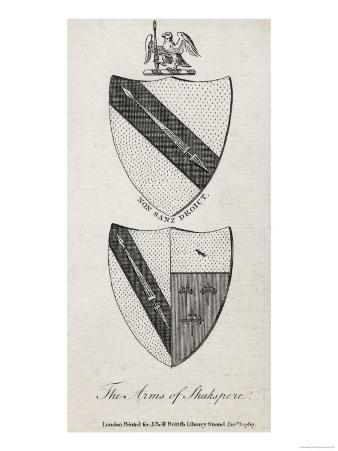 William Shakespeare Shakespeare's Coat of Arms