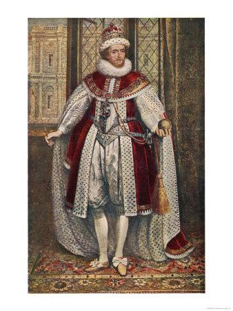 James I of England James VI of Scotland in State Robes Holding Orb and Sceptre