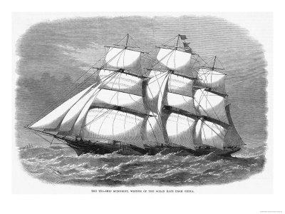 British Clipper for the China Tea Trade Which in 1868 Won the Ocean Race from China to England