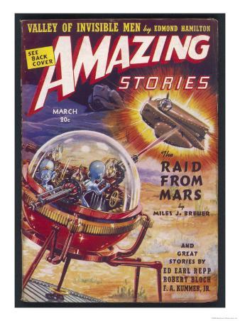 The Raid from Mars' (Miles J Breuer) Martians Raid Earth in Search of Radium