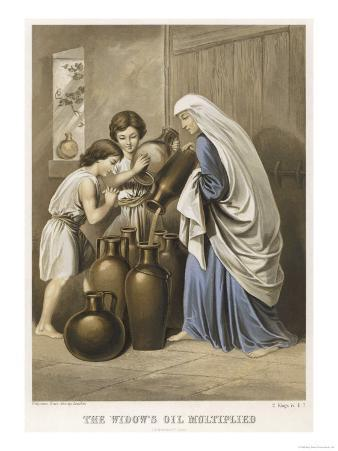 The Prophet Elisha Causes the Widow's Oil to Multiply So That Every Vessel in Her House is Full