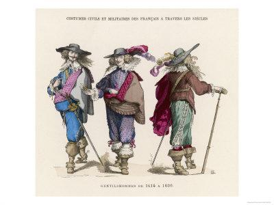 """French """"Gentilshommes"""" Dressed in the Height of Male Fashion"""