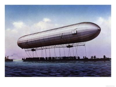 The First Zeppelin, LZ.1, Makes Its Maiden Flight Over the Bodensee