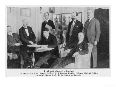 Delegation in London Including Arthur Griffiths, Michael Collins, Gavan Duffy, and More