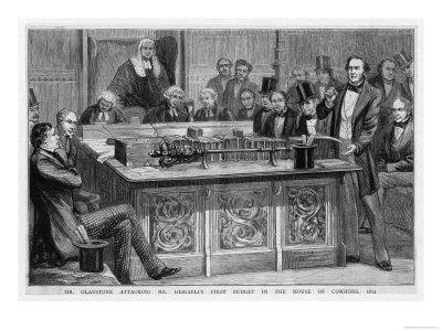 William Gladstone Attacks Benjamin Disraeli's First Budget Speech Which Had Lasted Five Hours