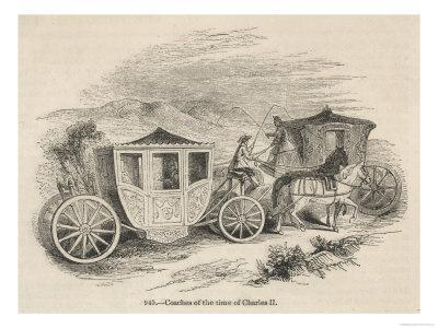Horse-Drawn Coaches from the Time of Charles II