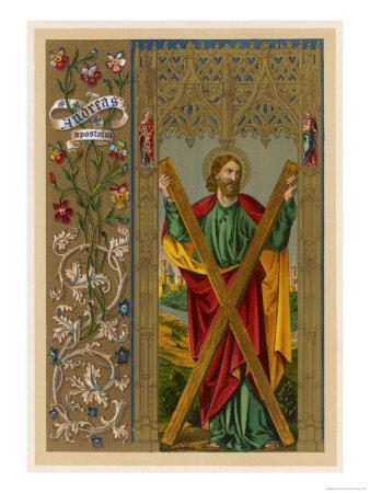 Saint Andrew One of Jesus's Apostles He is Depicted Holding the Cross on Which He Will be Crucified