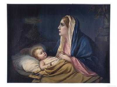 Mary Contemplating Her Son Suddenly Has a Premonition of the Crown of Thorns