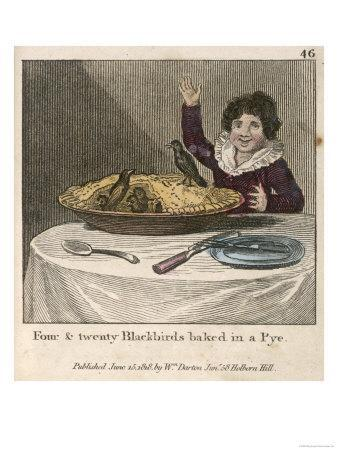 Sing a Song of Sixpence a Bag Full of Rye Four-And-Twenty Blackbirds Baked in a Pie