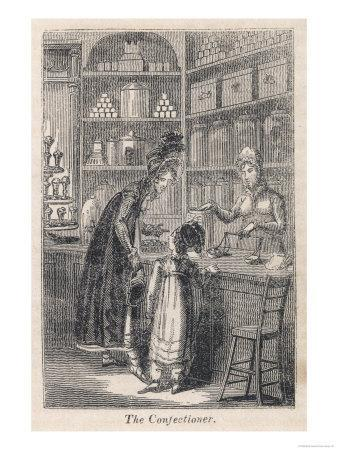Young Well-Off Mother Spoils Her Little Girl with Sweets