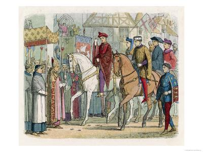 Henry V of England and Charles VI of France Enter Paris after the Treaty of Troyes