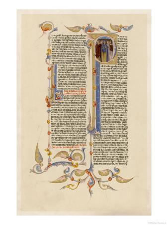Page from a 14th Century Italian Bible