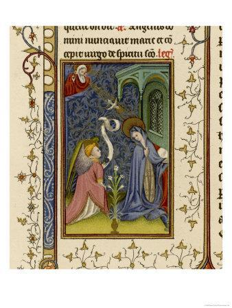 Annunciation to Mary by an Angel Watched by God