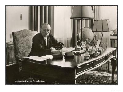 Konrad Adenauer German Statesman First Chancellor of West Germany after World War Two