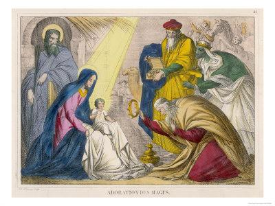 The Magi Present the Young Jesus with the Birthday Gifts They Have Brought Him
