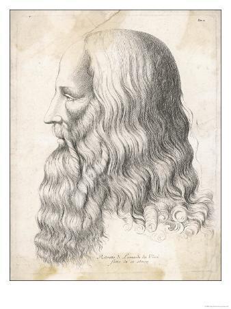 Leonardo Da Vinci Italian Artist: Self-Portrait in Profile