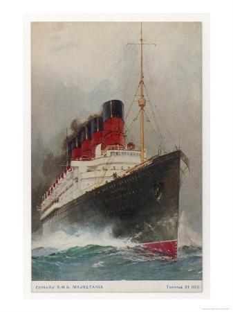 Cunard Passenger Liner on the Transatlantic Run