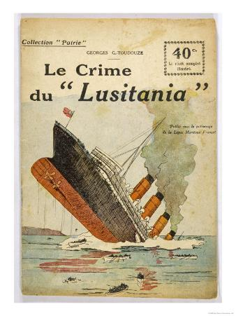 """This Dramatic Cover Page Conveys the Shock Felt after the """"Lusitania"""" was Torpedoed"""