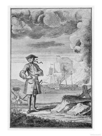 Edward England Taken Prisoner in 1718 by Another Pirate