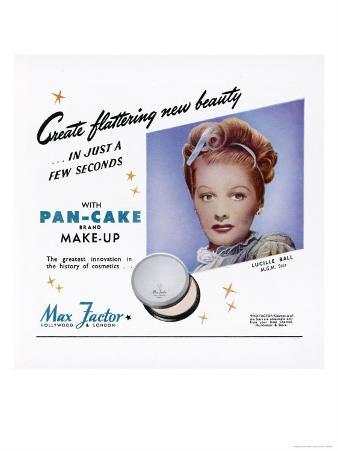 Max Factor Pan-Cake Makeup, as Used by Lucille Ball