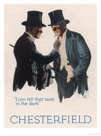 Chesterfield Cigarettes, I Can Tell That Taste in the Dark