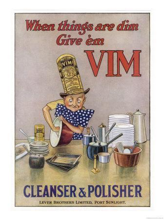 Vim Cleanser and Polisher, When Things are Dim Give 'Em Vim