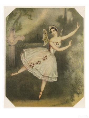 Carlotta Grisi, Italian Ballet Dancer Seen Here in Giselle