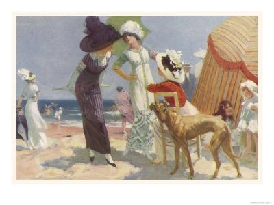 Elegance on the Beach, It's the Place to be Seen and a Lady Wants to be Seen at Her Best