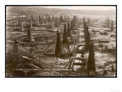 Bird's Eye View of the Oilfield of the Creditu Minier Moreni-Prahova